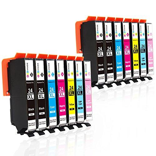 GPC Image 24xl Kompatibel Druckerpatronen Ersatz für Epson 24XL 24(4 Schwarz, 2 Cyan, 2 Magenta, 2 Gelb, 2 Licht Cyan, 2 Licht Magenta) für Epson Expression Photo XP-760 XP-55 XP-960 XP-860 XP-950 (High-yield-tinte)