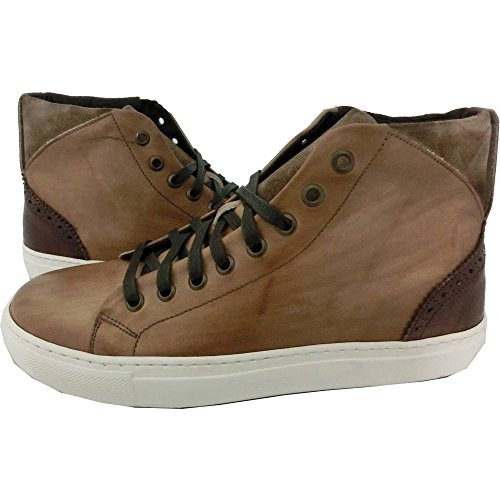 Scarpe Uomo Exton 972 0702 - Sneaker made in italy, vintage camel anticato steppa, Marrone (41)