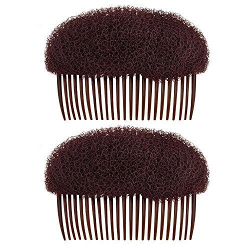 OMyGod Style de cheveux Ruche Bump en mousse Shaper Peigne – Marron foncé – 9 cm x 6 cm x 5.5 cm