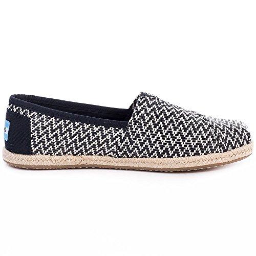 Toms Classics 1001b07, Sneaker, Donna Noir Tissé / Corde