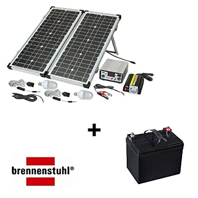 Brennenstuhl SES P4033 plus Blei-Gel Akku 12 V/ 33Ah Solar Energie-Set von Mertrado GmbH bei Lampenhans.de