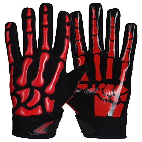 Prostyle Skeleton American Football Receiver Handschuhe - rot Gr. XL