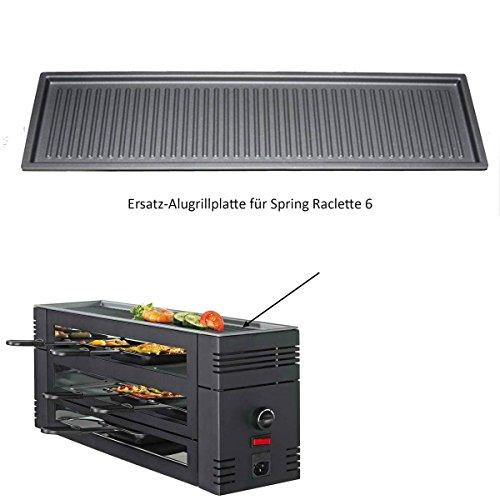 Spring Pizza Raclette 6 Ersatzplatte, Alu