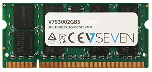 V7 V753002GBS Notebook DDR2 SO-DIMM Arbeitsspeicher 2GB (667MHZ, CL5, PC2-5300, 200pin, 1.8 Volt) -