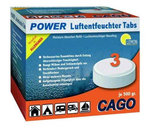 CAGO Power Luftentfeuchter Tabs Zitrone 3-er Pack (Er-tab)