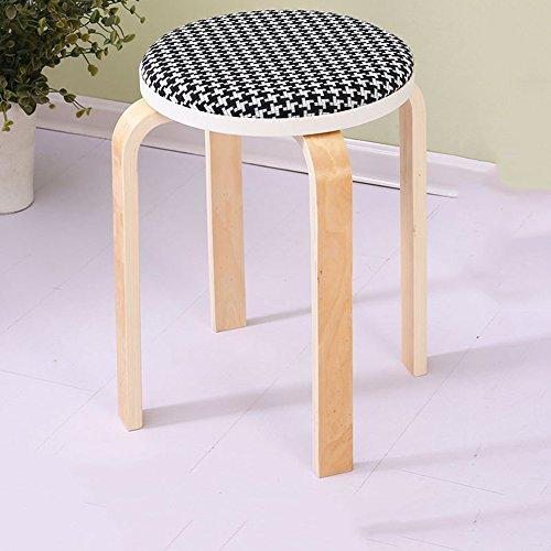 KFXL yizi Tabouret en bois massif Chaise haute banc 13 couleurs en option Le nombre de 48cm en option (Couleur : B, taille : # 2)