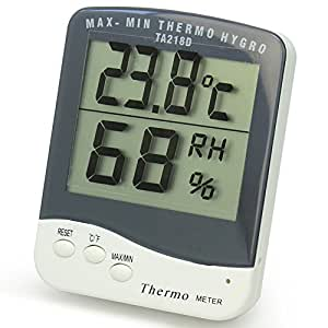 Lcd thermom tre hygrom tre int rieur num rique temp rature for Thermometre maison interieur