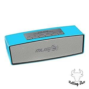 Sans fil bluetooth stereo enceintes haut-parleur portatif radio, carte-wS 636 rechteckimpulse lecteur soutien radio fM (bleu)