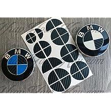 FIBRA DE CARBONO NEGRA BISEL MEDIA BMW Emblema del emblema CAPOTA DE LA CAMPANA DE LA CAMPANA @ SE UTILIZA EN TODO EL BMW @