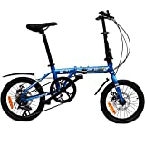 Faltrad 16 Zoll mit Scheibenbremsen (blau)
