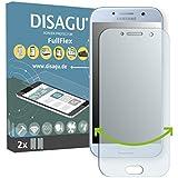 2 x Disagu FullFlex film de protection pour film Samsung Galaxy A5 (2017) (Film de protection d'écran se pose sur mesure écran aux bords arrondis)