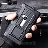 Nokia Lumia 920 Coque, Cocomii Robot Armor NEW [Heavy Duty] Premium Belt Clip Holster Kickstand Shockproof Hard Bumper Shell [Military Defender] Full Body Dual Layer Rugged Cover Case Étui Housse (Black)