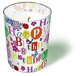 Glaskerze What a Day! - Bunter Geburtstag