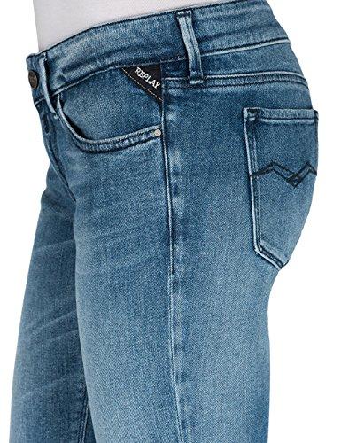 Replay Damen Skinny Jeans Luz, Blau (Light Blue 10) 28W/34L