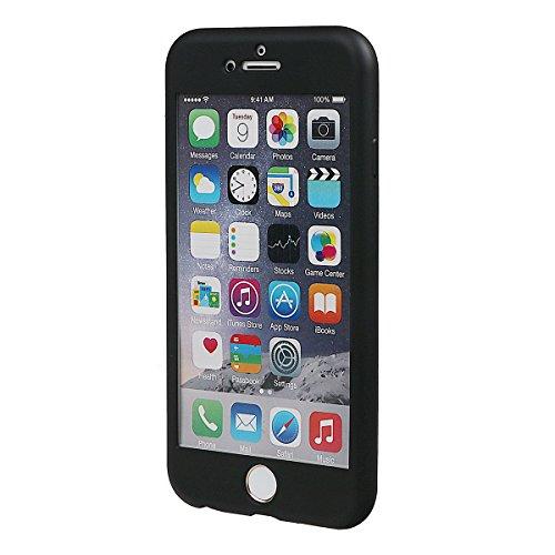 """xhorizon TM Stoßfeste weiche Schutzhülle aus 360 Grad ultradünner und zweischichtiger TPU für volle Deckung für iPhone 6 / iPhone 6S (4.7"""") schwarz"""