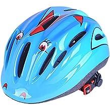 foxom Kids–Cascos de seguridad de bicicleta, bicicletas, Scooter o patines cascos casco de niños o niñas–Ideal para 2–15años niños, azul