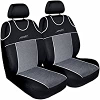 (TS-2) T-SHIRT Universale Set coprisedili auto compatibile con VW VOLKSWAGEN (BORA, CADDY, DERBY, FOX, GOLF, JETTA, LUPO, NEW BEETLE, PASSAT, POLO, SANTANA, SHARAN, SIROCCO, TIGUAN, TOURAN, UP!, VENTO) (per due sedili)