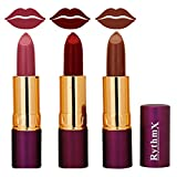 #4: Rich creme Lipstick In Purple,Maroon,Shimmer Brown Shades 555