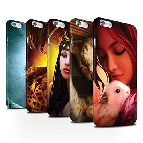 Officiel Elena Dudina Coque / Clipser Matte Etui pour Apple iPhone 6 / Petit Panda/Bambou Design / Les Animaux Collection Pack 16pcs