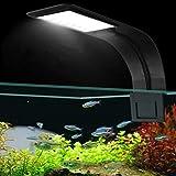 Womdee Lampe d'aquarium LED, LED Clip Aquarium lumière Clip sur Poisson réservoir éclairage LED Lampe avec lumière Blanche et...