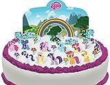 Vorgeschnittene und Essbare My Little Pony Szene Kuchen Topper (Tortenaufleger, Bedruckte Oblaten, Oblatenaufleger)