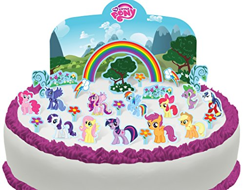 Essbare My Little Pony Szene Kuchen Topper (Tortenaufleger, Bedruckte Oblaten, Oblatenaufleger) ()