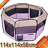 Box-per-animali-Recinzione-per-cuccioli-Cuccia-dimensioni-114-x-114-x-58-cm-Colore-rosa