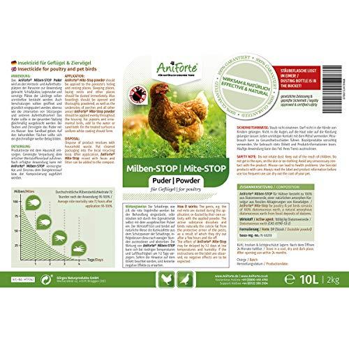 AniForte® Milben Stop Puder 10 Liter Eimer inkl. Puderflasche - Naturprodukt für Tiere - 3
