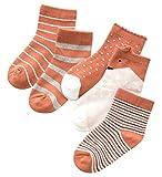 Happy Cherry 5 Lots de Chaussette Unisexe Fille Garçon Enfant de 3-5ans Elastiques Socquettes 15-17cm Adorable Coton Respiration Contre Froid