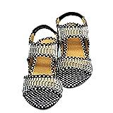 Flat Shoes-Cart Women Designer Polka Dot Sandal 7 Ind/Uk