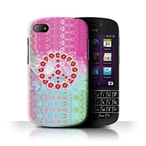 Stuff4® Hülle/Case für BlackBerry Q10 / Krawatte Farbstoff Marmor Muster/Hippie Hipster Kunst Kollektion