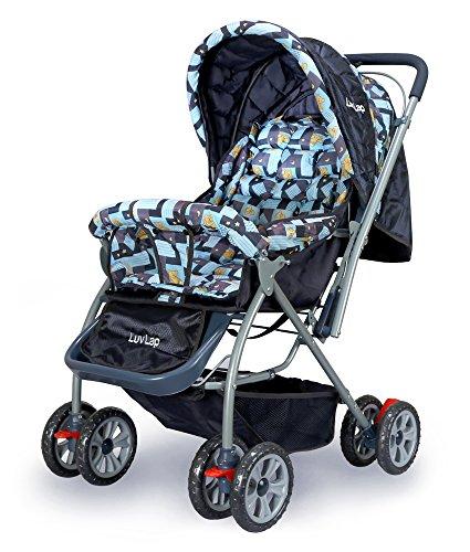Luvlap Starshine Baby Pram Cum Stroller (Blue)