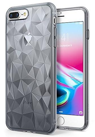 iPhone 7 Plus / iPhone 8 Plus Hülle, Ringke AIR PRISM 3D Design, ultra chic dünn schlang geometrisches Muster flexible Kompletthülle texturiert schützend TPU Fall geschützt Cover – (Satin Gold Sb)