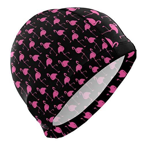 Gebrb cuffie da nuoto,cuffie da bagno,cuffia piscina flamingo pink teal lycra swim cap swimming for women men