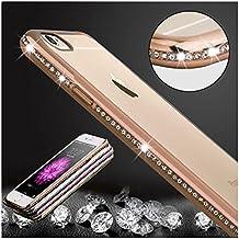 iPhone 6S Plus, 6 Plus Caso Claro, KrygerShield® - Peso Ligero De Lujo Del Diamante Súper Delgada Cubierta De Parachoques - Oro