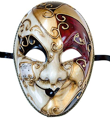 Lannakind Venezianische Maske Gesichtsmaske Joker Herren Karneval Fasching -