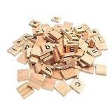 Kleine Scrabble-Buchstabenplättchen aus Holz, für Bastelarbeiten, Großbuchstaben, 100Stück, von SNNplapla Lowcase