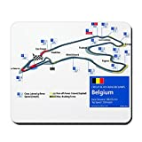 CafePress – Formel 1 – Spa-Francorchamps – Anti-Rutsch-Mauspad aus Gummi