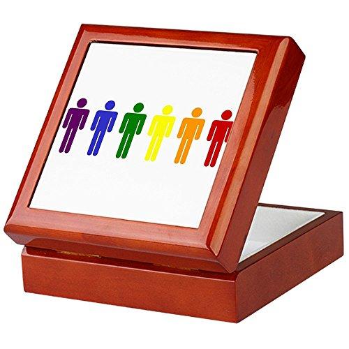 CafePress-Rainbow Herren-Keepsake Box, fertig Hartholz Jewelry Box, Samt Gefüttert Memento Box mahagoni -
