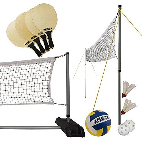 Lifetime Sportnetz 3 in 1 Volleyball/Badminton/Pickleball, 90541
