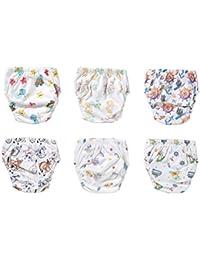 OZYOL KINDERWELT 6er Pack Wasserdicht Baby Lernwindel Trainerhosen Unterwäsche Windeln Windelhose zum Toilettentraining Töpfchentraining