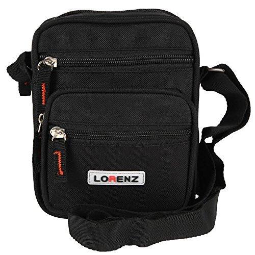 Lorenz - Bolso hombro lona hombre negro negro