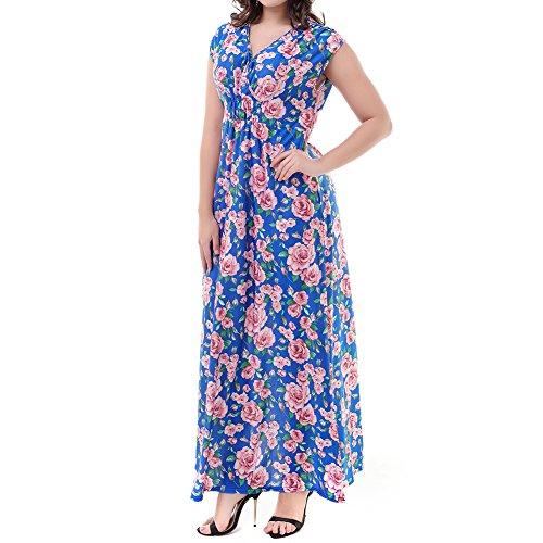 iBaste 2018 cicalino Boho vestito spiaggia Vestito casual Maxi #3