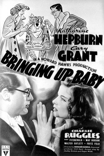 Moviestore Katharine Hepburn als Susan in Bringing Up Baby 91x60cm Schwarzweiß-Posterdruck -
