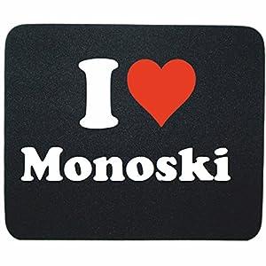 Gaming Mauspad I Love Monoski in Schwarz, eine tolle Geschenkidee die von...