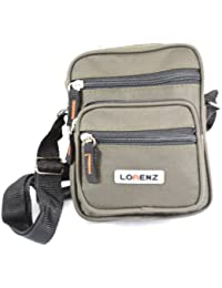Handy Small Canvas Style Shoulder Bag / Cross Body Bag (Black. Khaki, Green)