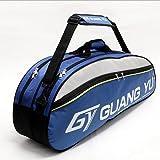 IPENNY Super Groß Badminton-Rucksack 800D Nylon Wasserdicht Tragbar Badminton Schläger Tasche Große Kapazität Sporttasche für