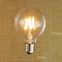 Vintage edsion A19LED21 2lampadina della luce sorgente di luce LED giallo caldo e trasparente Lampadina filamento retrò ,8,G80LED, vite E27 bianco caldo