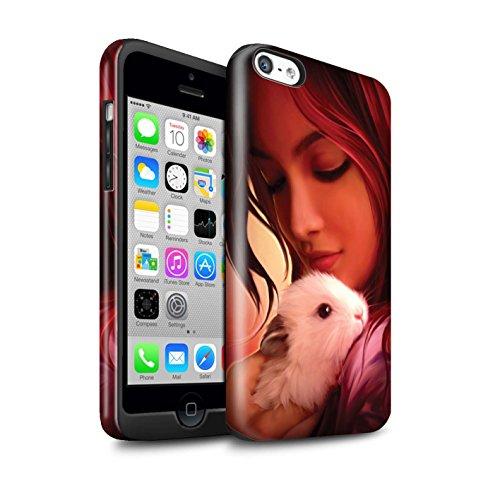 Officiel Elena Dudina Coque / Brillant Robuste Antichoc Etui pour Apple iPhone 5C / Oui Maman/Lion/Petit Design / Les Animaux Collection Dans mes Bras/Sûr