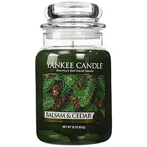YANKEE CANDLE Duftkerze im Glas, Duft: Balsam und Zeder, 625 g